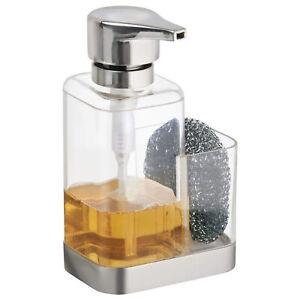 Details about Kitchen Sink Soap Dispenser with Sponge Holder Countertop  Sink Caddy Organizer