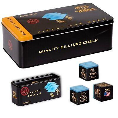Professional 1 Bulk Box Blue Premium Pool Cue /& Billiard Chalk 12 Pieces