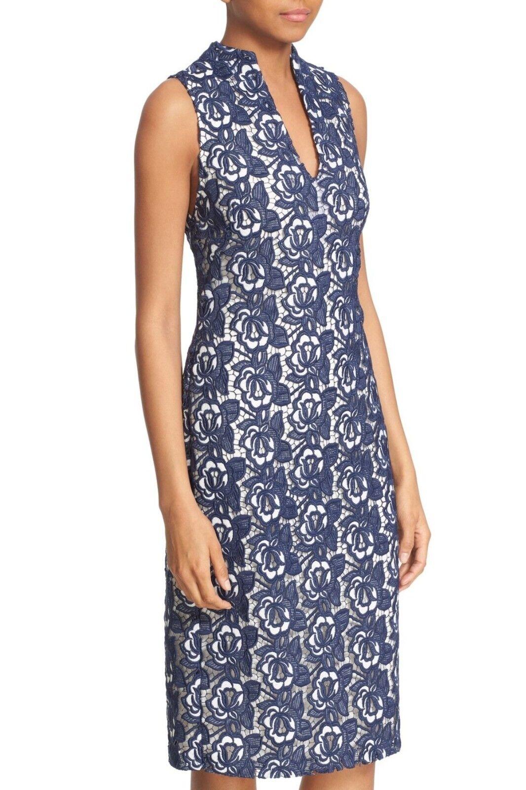 New  alice + olivia Jacki V-Neck Sleeveless Lace Sheath Dress Größe 6