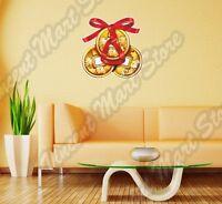 Chinese Money Lucky Happy Wishing Wall Sticker Interior Decor 25x22