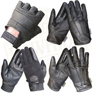 LEATHER-FINGERLESS-GLOVES-PLUS-GLOVES-4-SECURITY-KEVLAR-THERMAL-CLASSIC-GLOVES