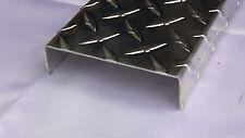 Aluminum Diamond Plate Channel 062 X 1 X 4 X 1 X 48 In Running Board 2pcs