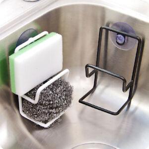 Sink-Sponge-Kitchen-Holder-Towel-Strainer-Suction-Organizer-Storage-Rack-Hooks