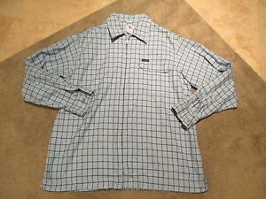 VINTAGE-Calvin-Klein-Shirt-Adult-Large-Blu-Spell-Out-Logo-90-CK-Full-Zip-Front