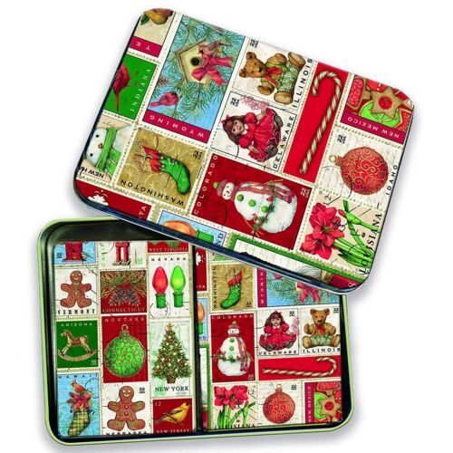 Lang Christmas Past Deluxe Set of 2 Full Colour Festive Playing Cards Gift Tin