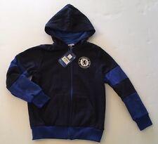 NWT Chelsea Football Club Sz Youth 8-9 Blue Full Zip Soccer Hoodie Sweatshirt