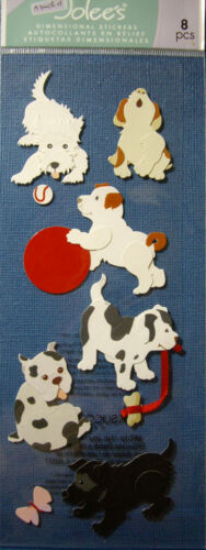 NEW 8 pc BRINGING HOME PUPPY Puppies Ball Leash Bone Toys JOLEE/'S 3D Stickers