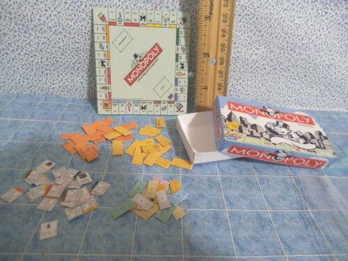 Barbie 1:6 Furniture Handmade Miniature Board Game MONOPOLY