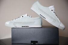 Diesel Bikkren Men Shoes White/ Vaporious Grey UK 11 EUR 45