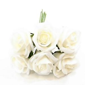 White foam roses princess colourfast 6 cm diameter choose your image is loading white foam roses princess colourfast 6 cm diameter mightylinksfo