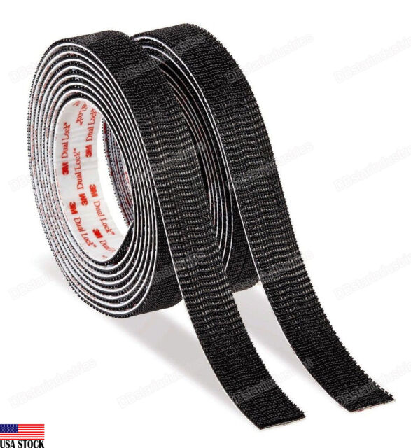 L x 1 in 3M  Scotch Extreme  Hook and Loop Fastener  3 in W Black  2 pk