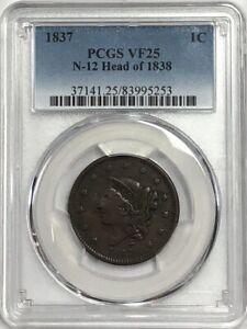 1837-Braided-Hair-Large-Cent-N-12-Head-Of-1838-PCGS-VF25
