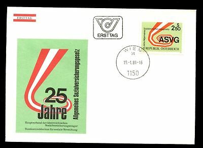 Stamps Charitable Austria 1981 General Social Insurance Act Fdc #c2906
