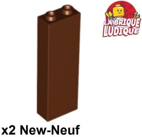 2x Lego Brick 1x2x5 Braun//Reddish Braun 2454 Neu Lego