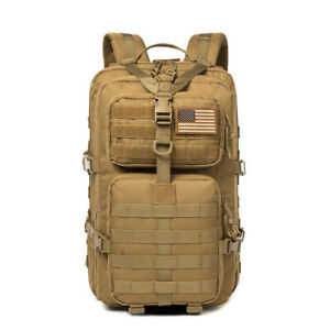 40L Military Tactical Assault Pack Backpack Army Molle Waterproof Bug Out Bag