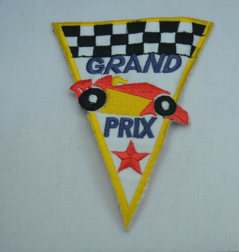GRAND PRIX GP MOTOR RACING 11cm  Embroidered Sew Iron On Cloth Patch Badge