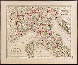 Carte Italie Ancienne.Details Sur Carte Ancienne 1857 Italie Du Nord Colton Antique Map Northern Italy