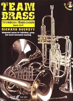 Team Brass Trombone/euphonium Bass Clef Book & Cd* Instruction Books, Cds & Video Musical Instruments & Gear