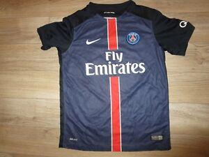premium selection d905f 04dd9 Details about David Luiz #32 Paris st. germain Soccer Football Jersey Youth  L 14-16 child