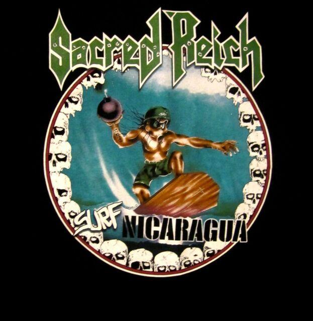 SACRED REICH cd cvr SURF NICARAGUA Official SHIRT LRG new