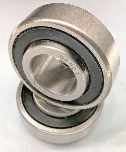 40mm OD,Wider IR Width 16.601mm 2x Premium 88503 Bearing w//2 Felt Seals 17mm ID