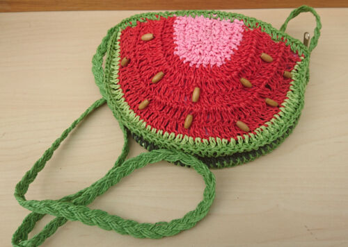 Cute Small Watermelon Lolita// Summer// Beach// Festival Straw Woven Shoulder Bag