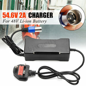 54.6V 2A  Output Voltage 48V Lithium Battery Charger For Electric Bicycle E-Bike
