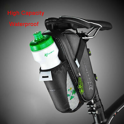 ROCKBROS Cycling Saddle Bag Pannier Bike Seat Post Bottle Pouch Tail Storage Bag