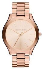 Michael Kors Donna Glitz Slim Tono Oro Rosa Runway Designer Watch MK3197