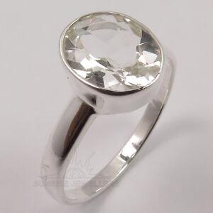 Green ite Peridot Quartz Sterling Silver Overlay 6 grams Ring Size 9.5 US Pretty