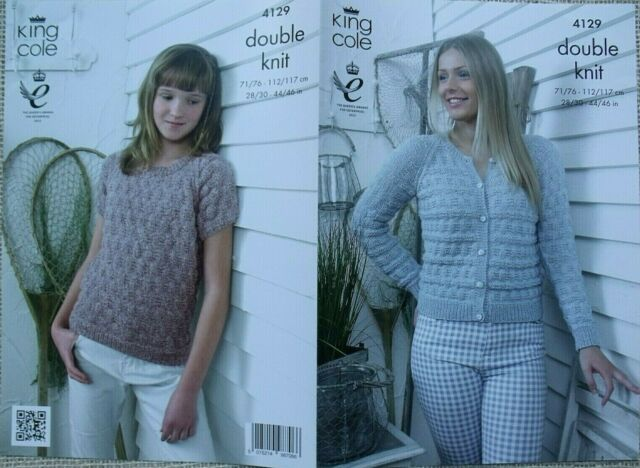 KNITTING PATTERN Ladies Textured Cable Jumper /& Cardigan Super Chunky 4708