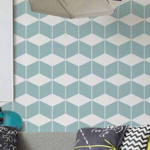 Fischgrate Wand Muster Schablone Heim Wand 9