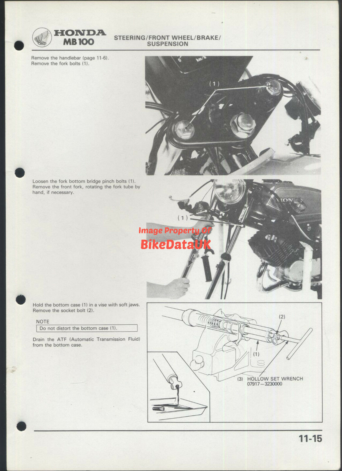 Honda H100a 1980 Official Factory Shop Manual H Mb 100 Ha01 Pre Wiring Diagram H100 H100s Am77 Ebay