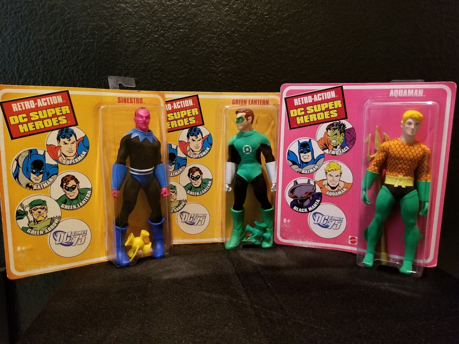 DC Superheroes Set Retro-Action All 3 included. New, unopened.