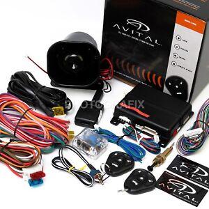 NEW-Avital-5105L-1-Way-Car-Security-Alarm-Remote-Start-System-D2D-Replaces-5103L