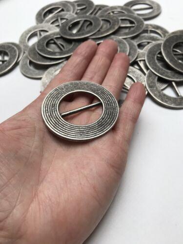 Astilla control deslizante de metal redonda negra hebilla cinturón vestidos bolsas Bufanda Craft turbante