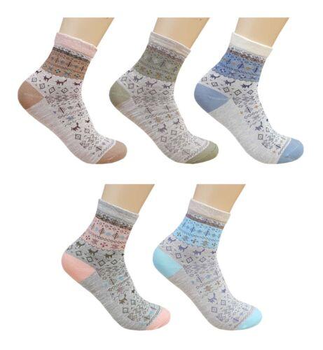 CHEX Socks Ladies Womens Cute Winter Scene Fun Novelty Ankle Socks UK 3-6
