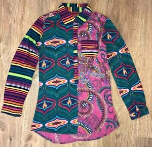 Desigual-rare-girls-colored-shirt-blouse-size-11-12-Years-fit-even-XS-S