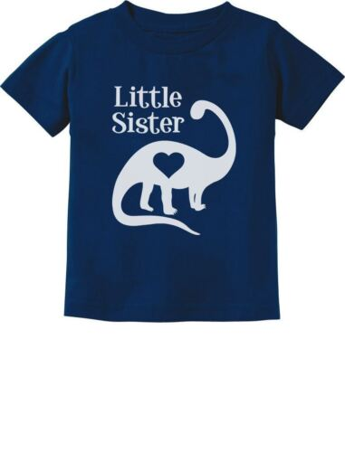 Little Sister Gift Siblings Love Dinosaur Girls Toddler//Infant Kids T-Shirt Dino