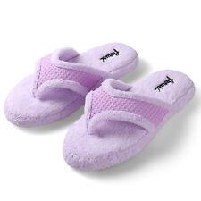 Aerusi Women Slippers Bowknot Fleece Soft Spa Bedroom Indoor House Shoes 5_12