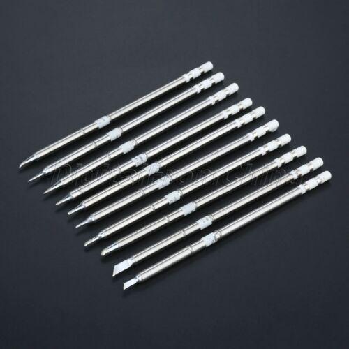 10pc//Set Replacement T12 Series Soldering Solder Iron Tip Welding Tool for Hakko