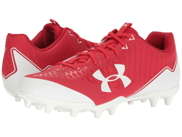 Brand New Under Armour UA Nitro Select Low MC Football Cleats Mens Red Shoes