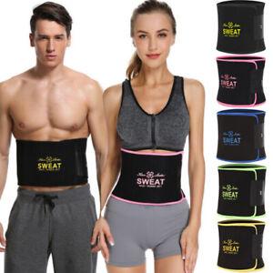 Sweat-Premium-Waist-Trimmer-Belt-Wrap-Tummy-Stomach-For-Weight-Loss-Fat-Burner