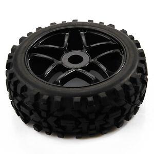 4x-Pentagram-Wheel-Rim-amp-Diamond-arrow-pattern-Tires-for-1-8-Off-Road-RC-Car-Buggy