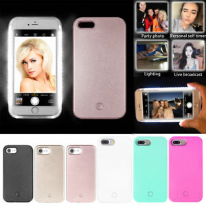 on sale 4550d 8a09e Details about Selfie LED Light Up Bright Phone Back Case Cover For iPhone 5  7/8 7plus/8plus