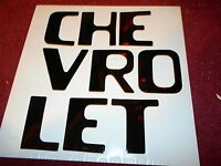 1954 - 1980 Chevrolet Stepside Truck Tailgate Lettering Letter Decals Set Black
