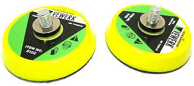 """3"""" Velcro Type Sanding Pad / Pads ( Set of 2 ) For Air Sander  By Vewerk 8103"""