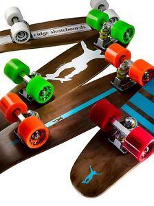 Ridge 22 Mini Cruiser Planche Skateboard Planche Bois Retro complete 7-ply maple-afficher le titre d'origine