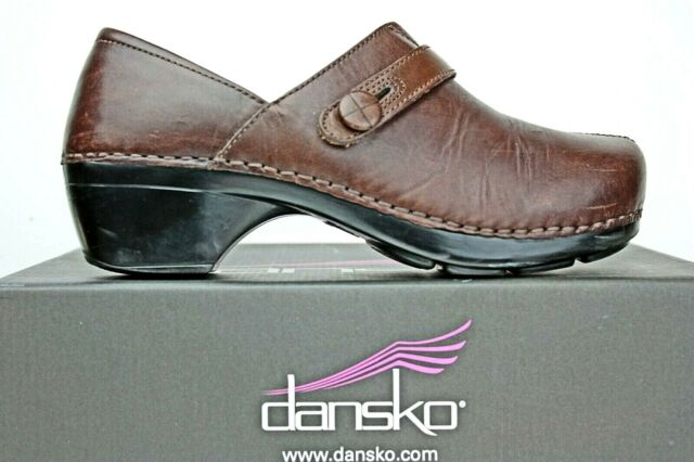 Dansko Womens Clogs size 8.5 9 M Chocolate Brown Leather A6