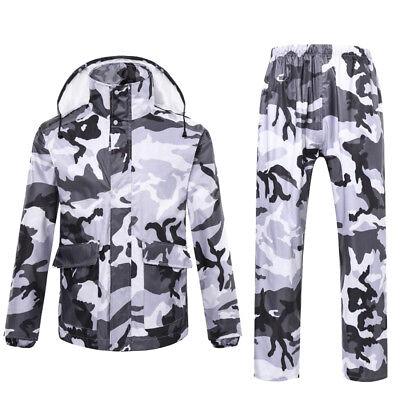 Mens Womens Outdoor Waterproof Biking Fishing Raincoat Rain Jacket + Pants Suit